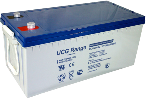 BATTERY ULTRACELL GEL,200Ah C10, 250 Ah C100,DEEP CYCLE