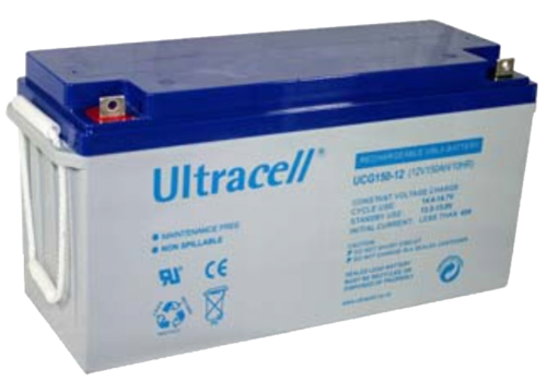 BATTERY ULTRACELL GEL,150Ah C10, 180 Ah C100,DEEP CYCLE
